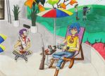 Relaxing on Plastic Beach by 2D-Dipper