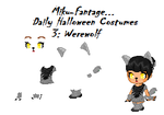 Halloween Daily Costumes~Day 3~Werewolf by Miku-Fantage