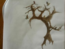Tatoo arbre aux corbeaux by tarral
