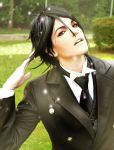 Posing for Grell by Koralene