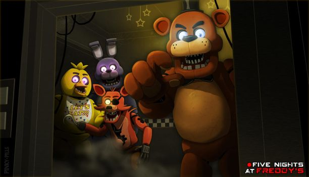 FNaF1 Wallpaper by PinkyPills