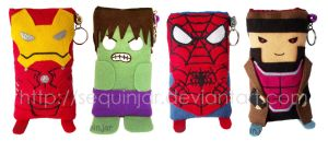 Marvel heroes phone cozies by sequinjar