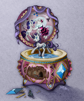 MLP Drawing - Rarity's Music Box by Royal-Serpent