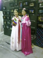 Hanbok Pale Pink and Hanbok Pink by seawaterwitch
