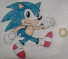 Classic Sonic the Hedgehog by MollyKetty