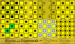 Blocks and Diamonds-Yellow Tones by allison731