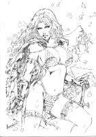 Leandro: Red Sonja by comiconart