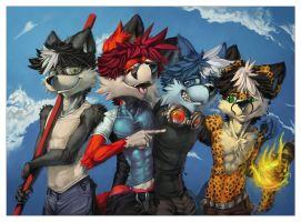 """All together now"" by Darkthur by Lonewolfchan"