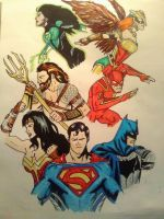 Justice League 3/ Colored by KingCozy7