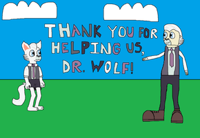 MLP: Thank You for Helping Us, Dr. Wolf! by RainbowxxxDash