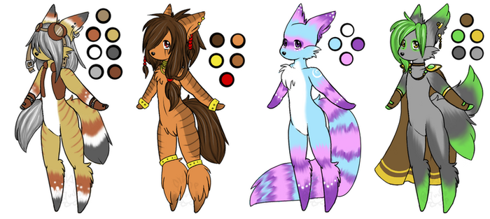 Furry Adoptable Set CLOSED by TechSupportGirls
