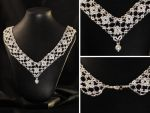 White Lace Wedding Necklace by LilSis279