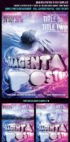 Magenta Poster Flyer Template by FlyerDzine