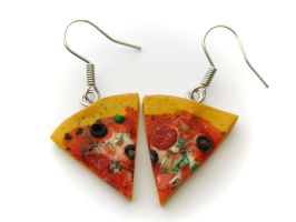 Pizza Earrings by PumpkinDream