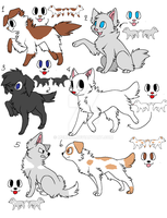 one or two points adoptables by Meme00