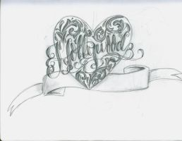 Hollywood Lettering Heart by 12KathyLees12