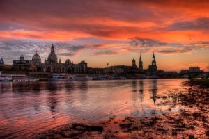 Dresden Sunset by stg123