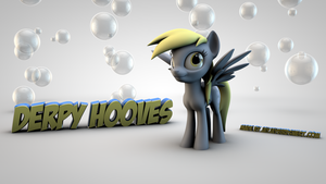 Derpy Hooves 3D Wallpaper : Bubbles by jayjaybirdsnest