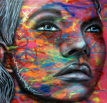 Spray paint and airbrush on canvas by Airgone