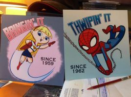 Supergirl and Spidey Prints by tombancroft