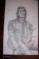 indian draw in pencil by Bigterri