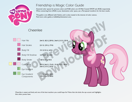 Cheerilee Color Guide by kefkafloyd