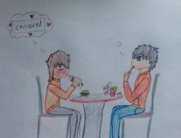 OTP challenge day 4: on a date (Masky x Hoodie ) by xinsaneplayerx