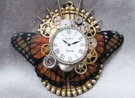 Steampunk Necklace - Butterfly by xxPRECIOUSMOMENTSxx