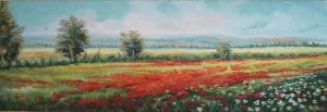 Field on Poppies by sorinapostolescu