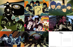 Beatles Rock Band Postcards by BlackRayquaza1