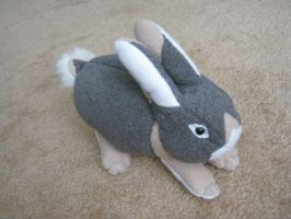 'Blue otter' bunny plush by Silver-Sully