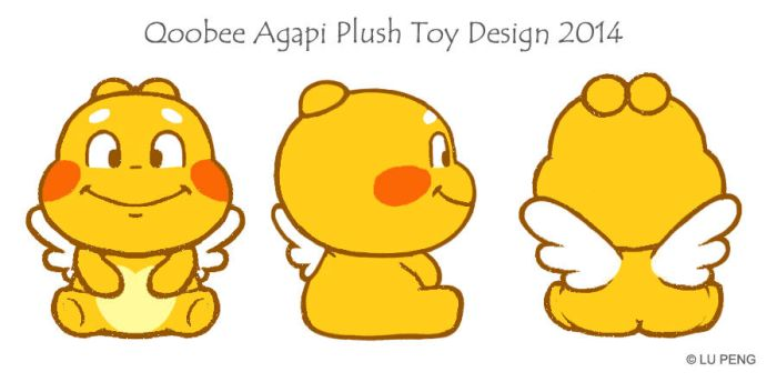 Qoobee softtoy design 2014 by goloops
