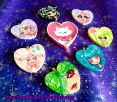 hand painted hearts by zambicandy