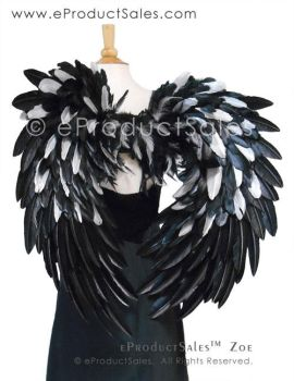 Black and Metallic Silver Zoe Angel Wings by eProductSales