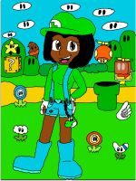 Sophie in Super Mario Land by SophieTheYoshi