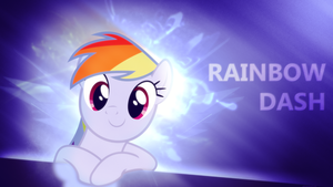 Rainbow Dash - 4K Wallpaper - Without Stripes by P3r0