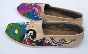 Adventure Time Custom Painted TOMS 2 by Ceil