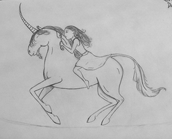 The Unicorn Song - sketch by spiderling00