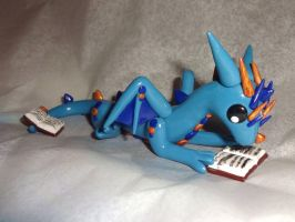 Reading Dragon Sculpture by ByToothAndClaw