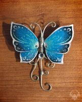 Butterfly brooch 1 by Spiked-Fox