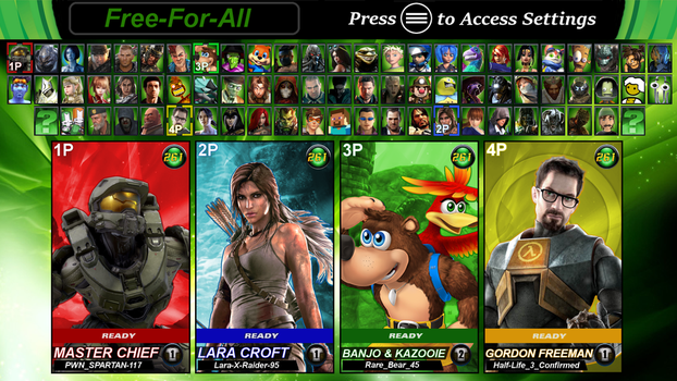 Microsoft Legends Battle Zone X: Character Roster by LeeHatake93