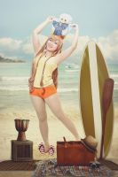 Mirai at Beach by hellsign