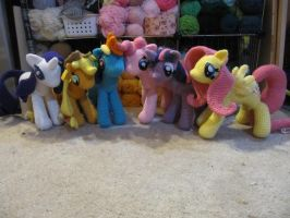 Mane 6 Redo Finished by NerdyKnitterDesigns