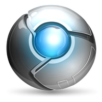 Chrome ice icon by wazzap9669