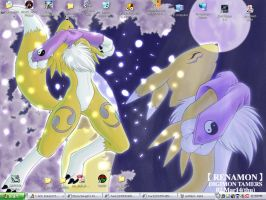 Renamon Wallpaper by lyrabardock