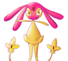 Shiny Mesprit by FatPinkUnicorns