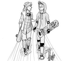 Skater Bros by darkhavenprincess