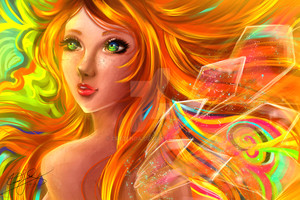 Sunset Fairy by Crezenda