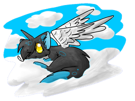 .:AT:. Just Floating ~F1uffy-K1tt3n~ by xXC0smic-HollyXx