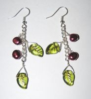Cherry Drop earrings by themagpiesnest
